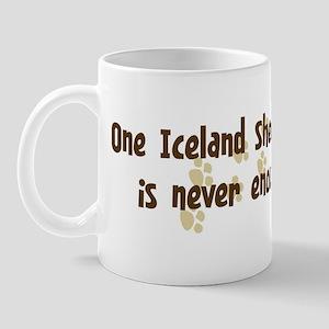 Never enough: Iceland Sheepdo Mug