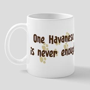 Never enough: Havanese Mug