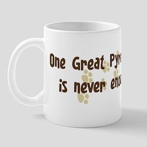 Never enough: Great Pyrenees Mug