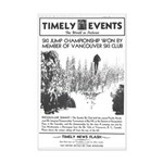 Mini Poster Print - Seattle Ski Club 1939 event