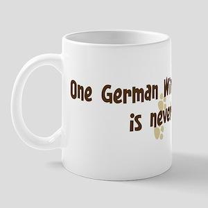 Never enough: German Wirehair Mug