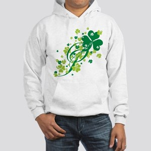 Shamrocks and Swirls Hooded Sweatshirt