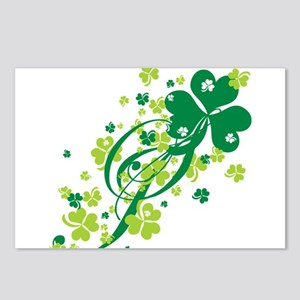 Shamrocks and Swirls Postcards (Package of 8)