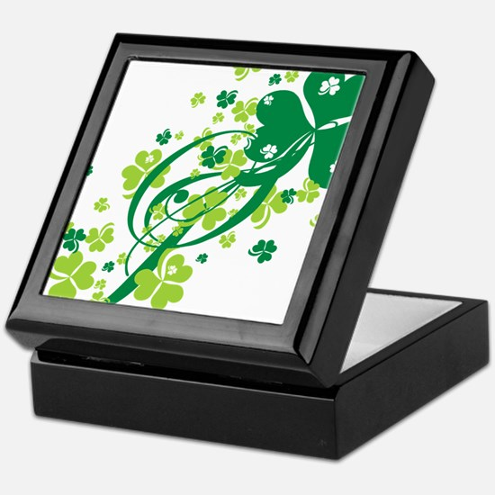 Shamrocks and Swirls Keepsake Box
