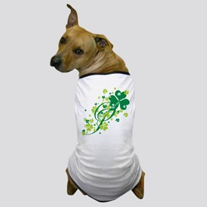 Shamrocks and Swirls Dog T-Shirt
