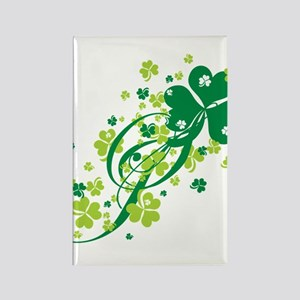 Shamrocks and Swirls Rectangle Magnet
