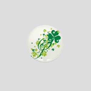 Shamrocks and Swirls Mini Button