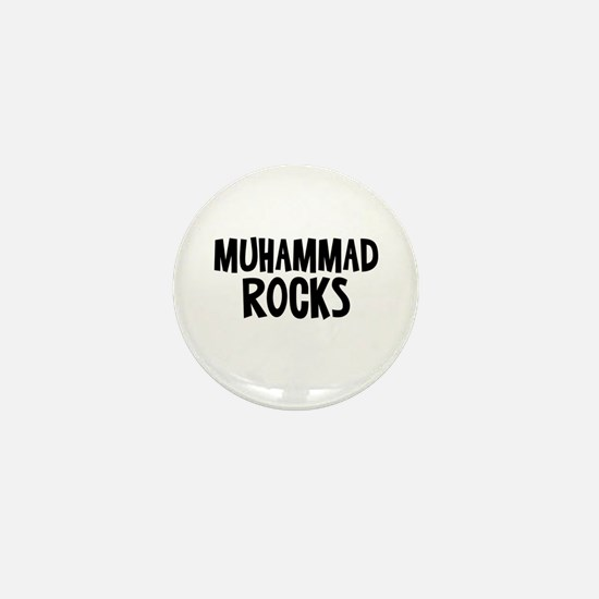 Muhammad Rocks Mini Button