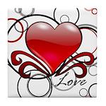Love Swirls Tile Coaster