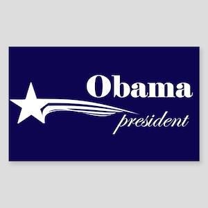 Barack Obama president Rectangle Sticker