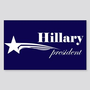 Hillary Clinton president Rectangle Sticker