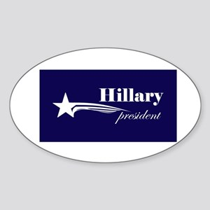 Hillary Clinton president Oval Sticker