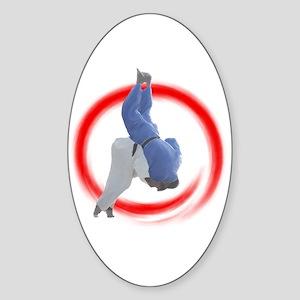 Judo Oval Sticker