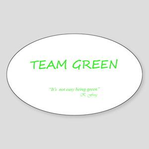 Team Green Oval Sticker