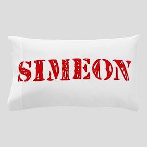 Simeon Rustic Stencil Design Pillow Case