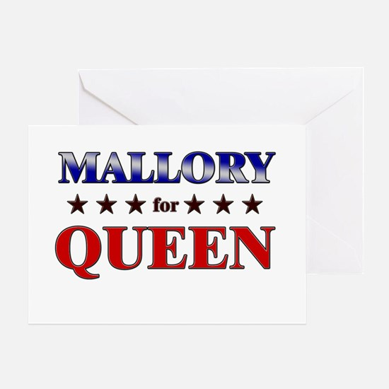 MALLORY for queen Greeting Card
