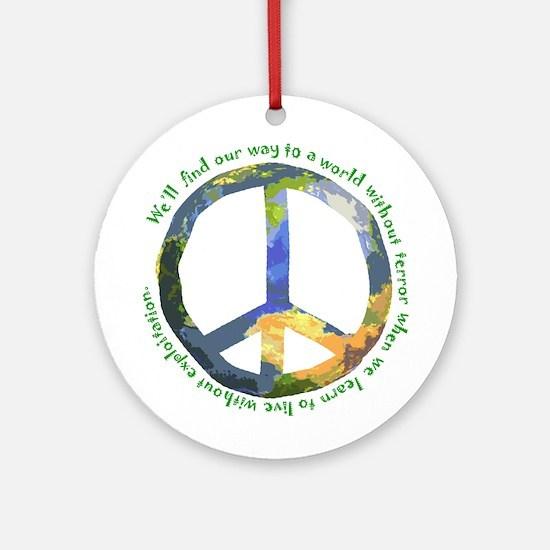 Peace Sign Keepsake (Round)