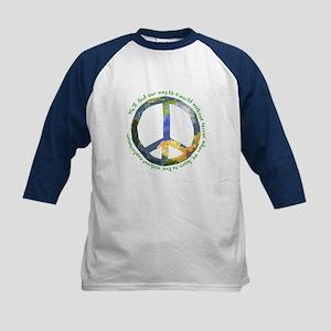Peace Sign Kids Baseball Jersey