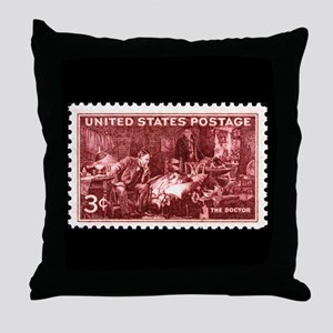 Doctor Stamp Throw Pillow