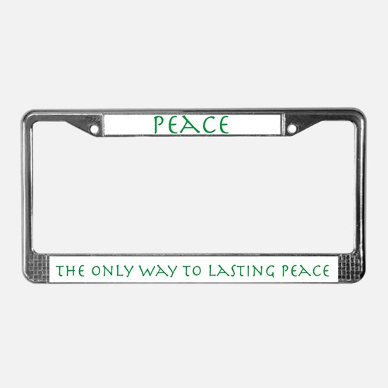Pacifist License Plate Frame