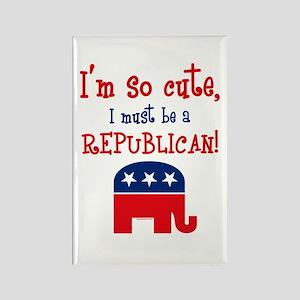 So Cute Republican Rectangle Magnet