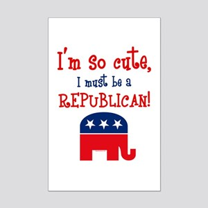 So Cute Republican Mini Poster Print