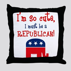 So Cute Republican Throw Pillow