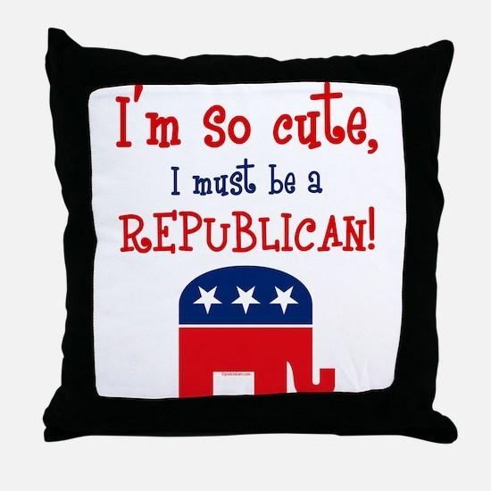 So Cute Republican Throw Pillow
