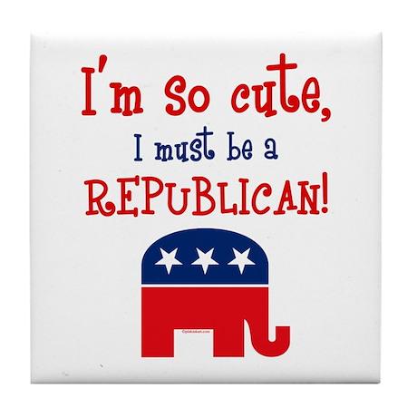 So Cute Republican Tile Coaster