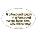 Husband Oval Sticker