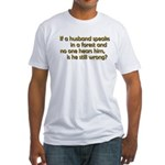 Husband Fitted T-Shirt