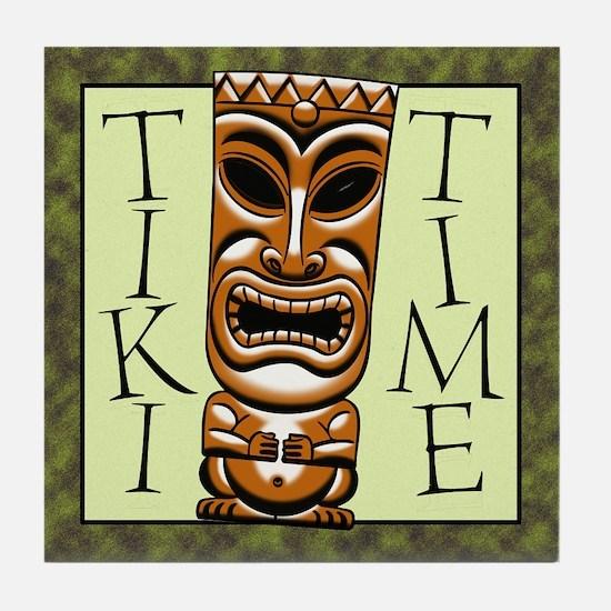 Tiki Time Tile Coaster