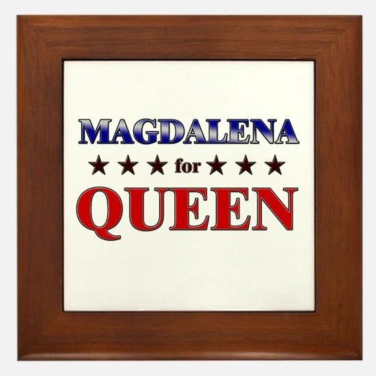 MAGDALENA for queen Framed Tile