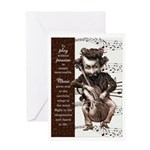 Cello Chops Funny Musician Birthday Greeting Cards
