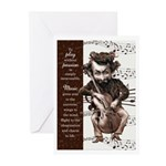 Cellist Funny Musician Birthday 10 Greeting Cards