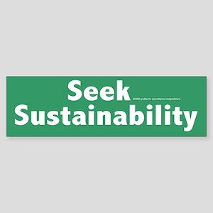 Sustainability Bumper Sticker