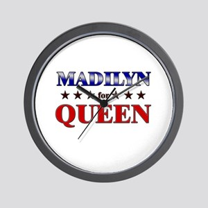 MADILYN for queen Wall Clock