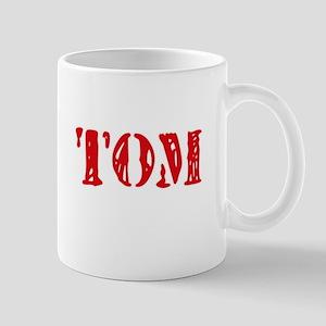 Tom Rustic Stencil Design Mugs
