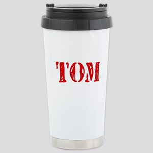 Tom Rustic Stencil Design Mugs