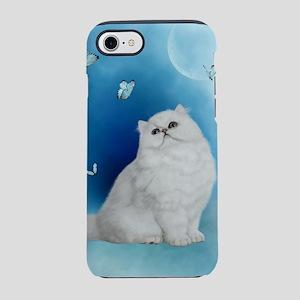 Wonderful white chinchilla cat iPhone 8/7 Tough Ca