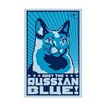 Russian Blue - Cat Propaganda Mini Poster