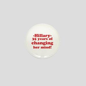 Funny Anti-Hillary Clinton T- Mini Button