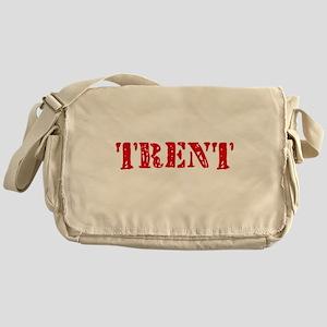 Trent Rustic Stencil Design Messenger Bag