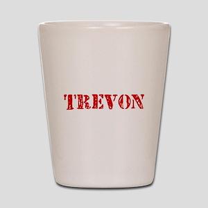 Trevon Rustic Stencil Design Shot Glass