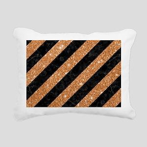STRIPES3 BLACK MARBLE & Rectangular Canvas Pillow