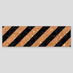 STRIPES3 BLACK MARBLE & COPPER GL Sticker (Bumper)