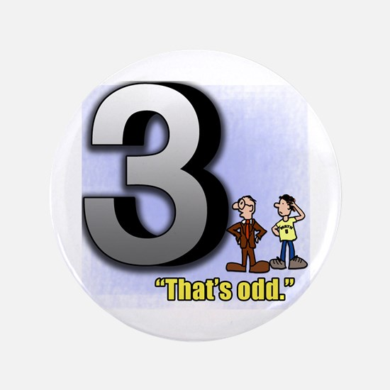 """Funny Math Design That's Odd 3.5"""" Button (100 pack"""