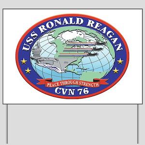 USS Ronald Reagan CVN 76 Yard Sign