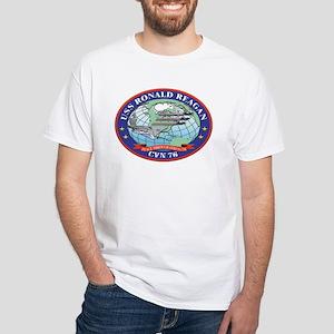 USS Ronald Reagan CVN 76 White T-Shirt