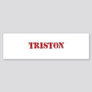 Triston Rustic Stencil Design Bumper Sticker